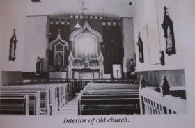 Lackagh Parish History Interior of old church